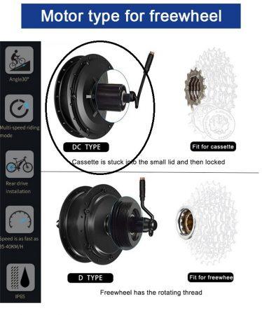 """36V 350W-os BLDC motor kerékbe fűzve 26 vagy 28""""-os"""