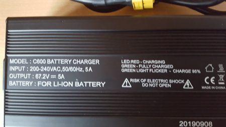 60V/5A Li-Ion nagy teljesítményű, gyors töltő