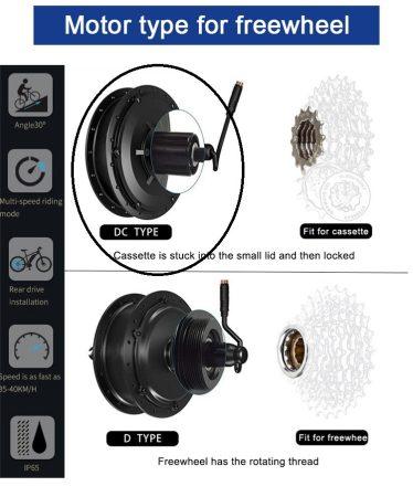 """36V 250-350W-os BLDC motorok kerékbe fűzve 26 vagy 28""""-os"""