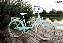 """LYNX Kerékpár 26"""" 6 seb. 17"""" váz pistacia LADY CARRIBIAN- CITY"""